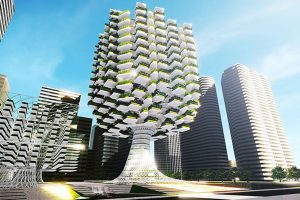 The future of agriculture in the Chinese language. Vertical farm Video